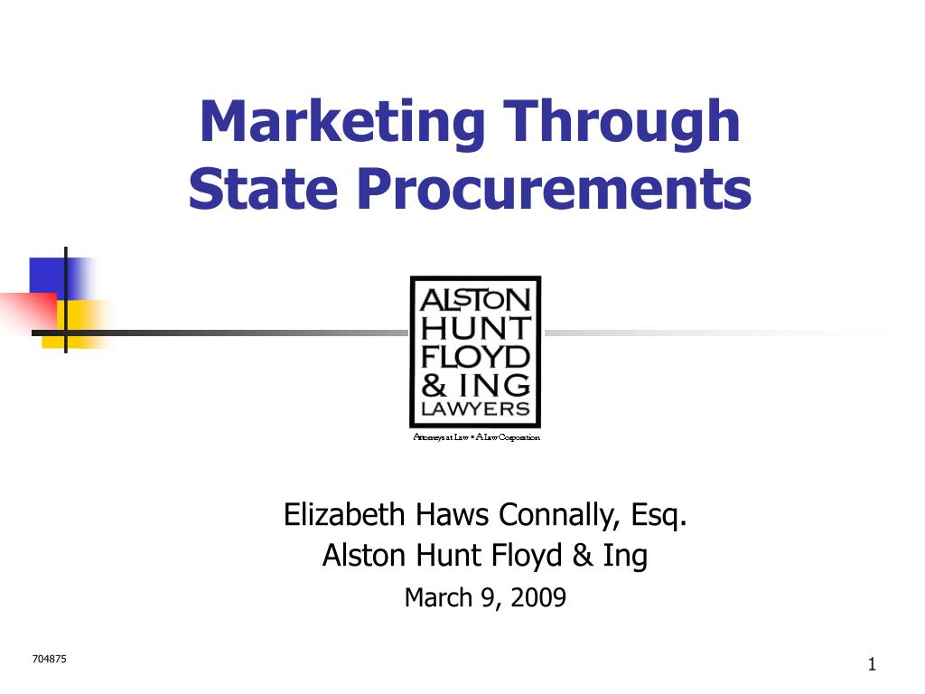 marketing through state procurements l.