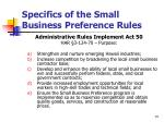 specifics of the small business preference rules