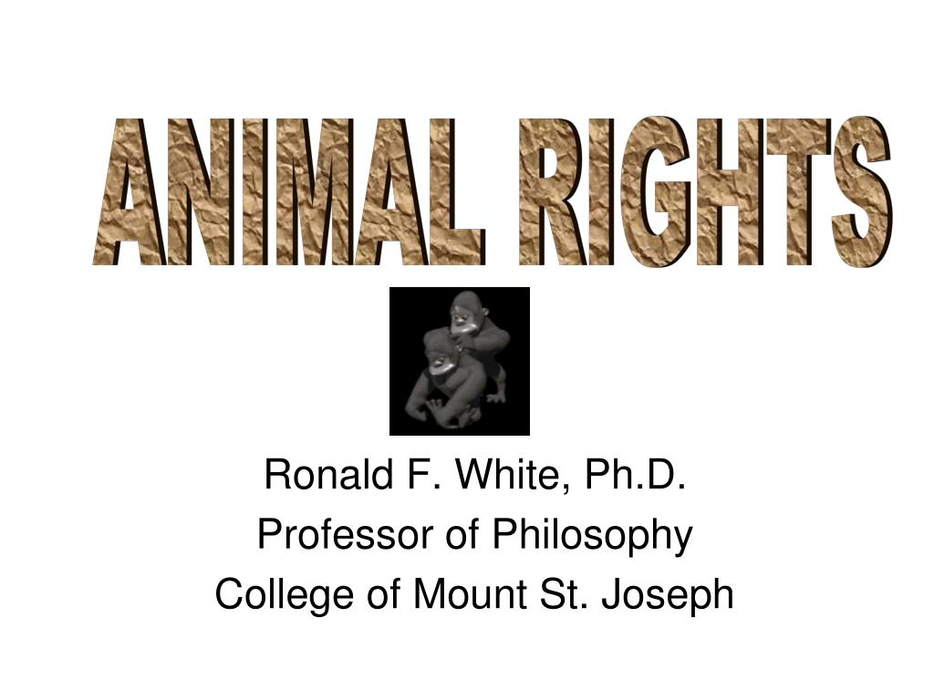 ronald f white ph d professor of philosophy college of mount st joseph l.