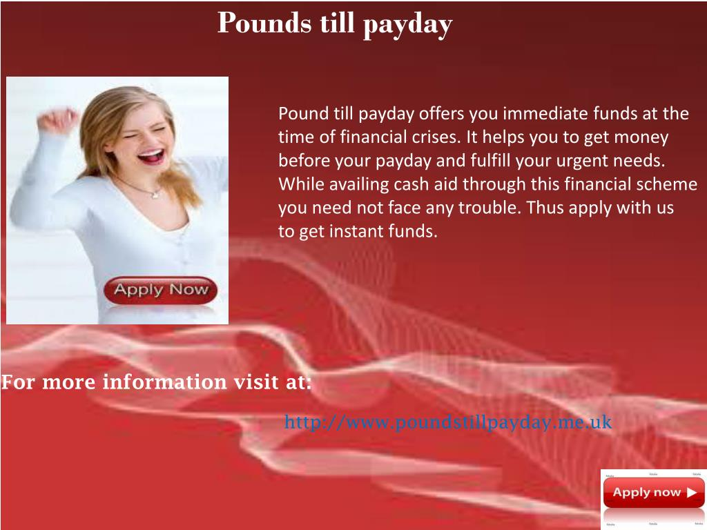 Pounds till payday