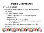 false claims act1
