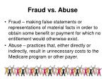 fraud vs abuse