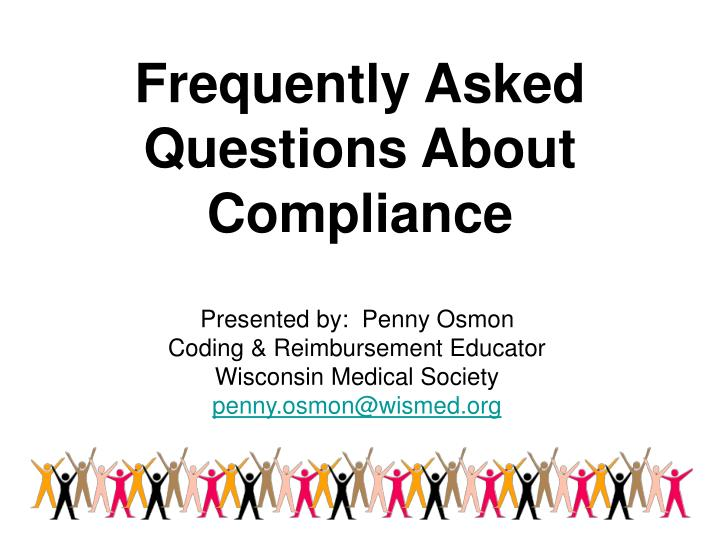frequently asked questions about compliance n.