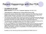 recent happenings with the fda