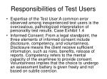 responsibilities of test users1