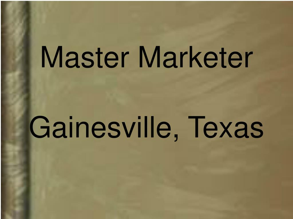 Master Marketer