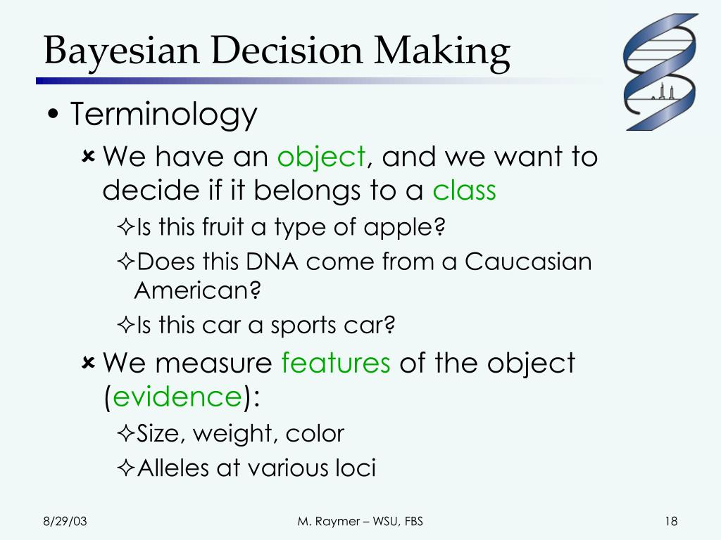 Bayesian Decision Making
