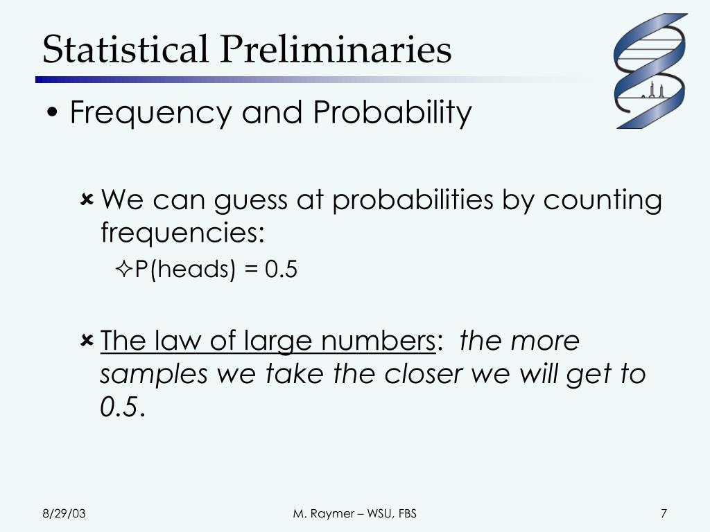 Statistical Preliminaries