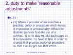2 duty to make reasonable adjustments
