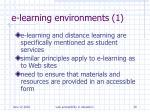 e learning environments 1