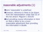reasonable adjustments 1