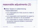 reasonable adjustments 2