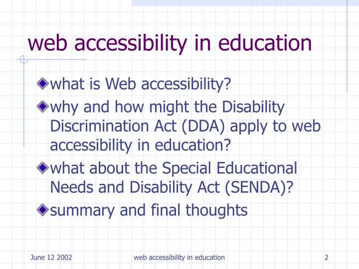 Web accessibility in education2