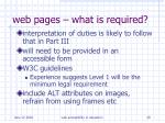 web pages what is required