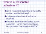 what is a reasonable adjustment