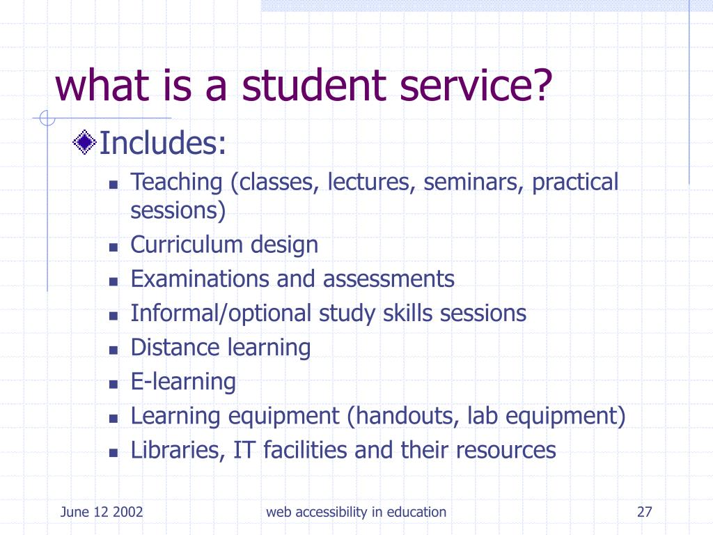what is a student service?