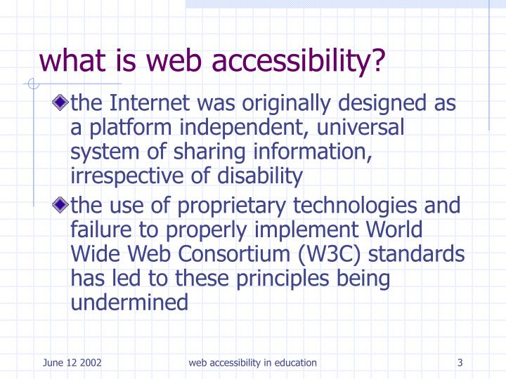 What is web accessibility