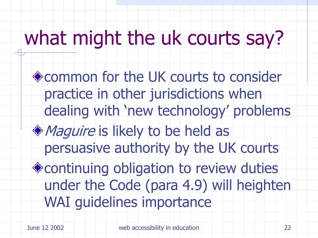 what might the uk courts say?