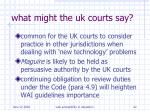 what might the uk courts say