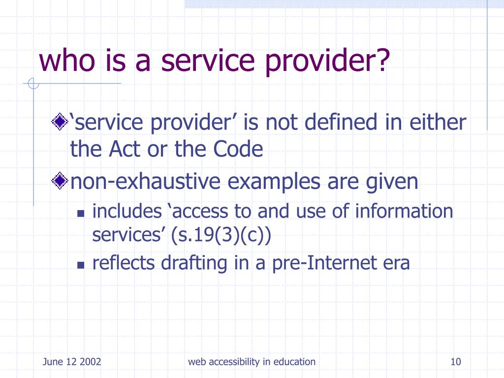 who is a service provider?