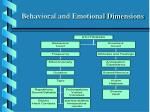 behavioral and emotional dimensions