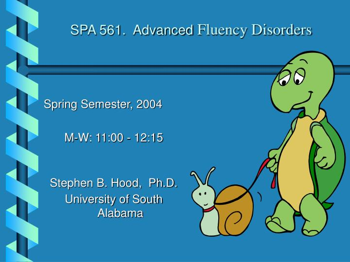 spa 561 advanced fluency disorders n.