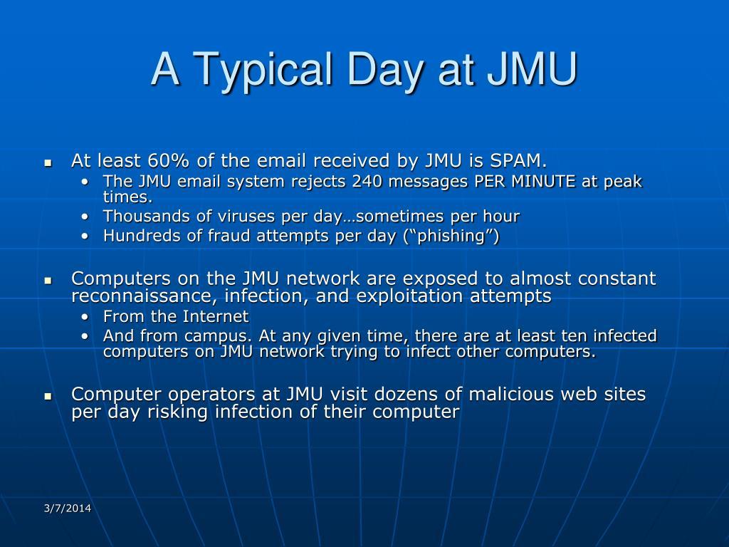 A Typical Day at JMU