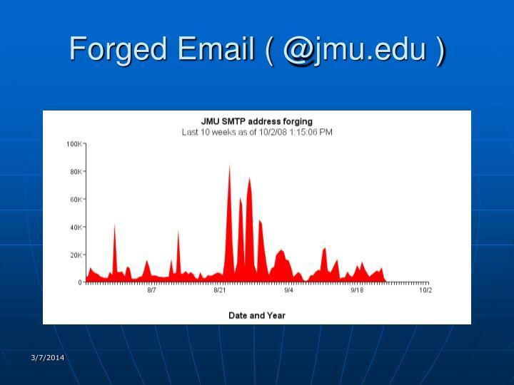 Forged email @ jmu edu
