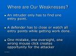 where are our weaknesses26