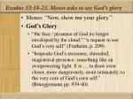 exodus 33 18 23 moses asks to see god s glory