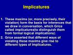 implicatures