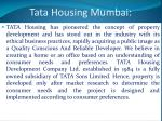 tata housing mumbai