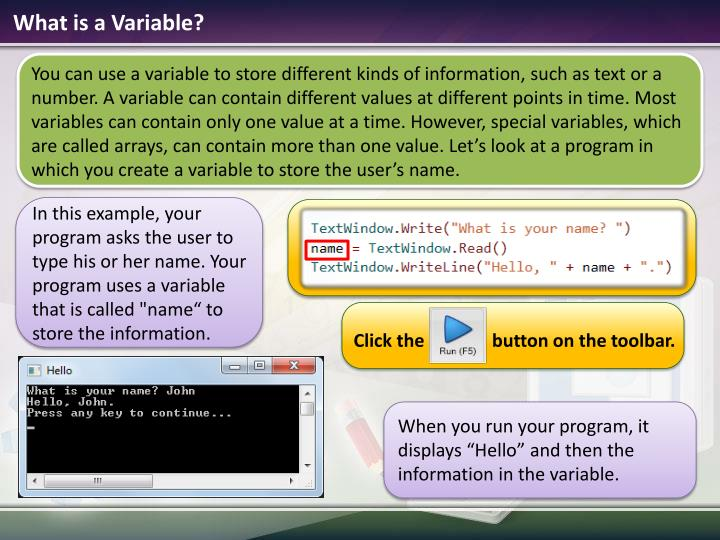 What is a variable