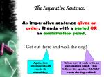 the imperative sentence7
