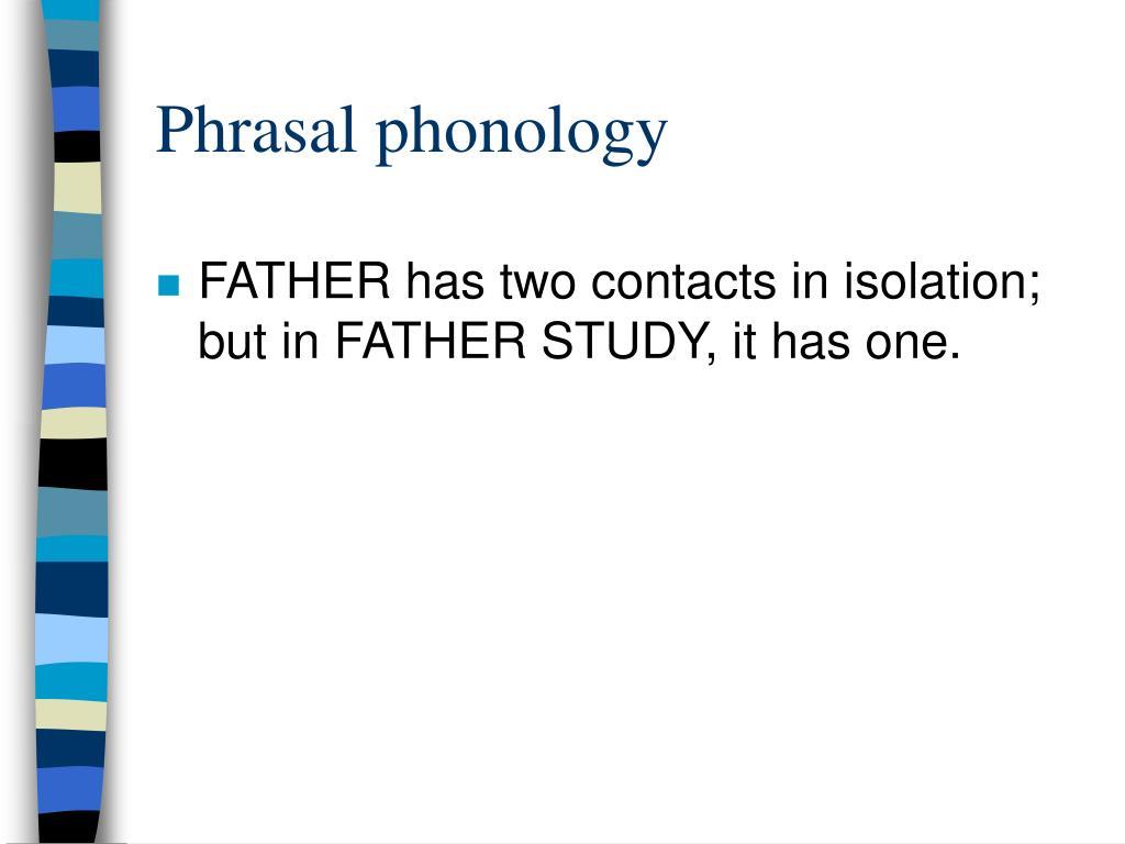 Phrasal phonology