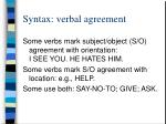syntax verbal agreement