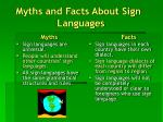 myths and facts about sign languages
