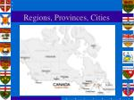 regions provinces cities