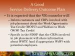 a good service delivery outcome plan68