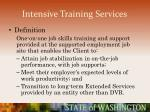 intensive training services54