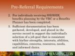 pre referral requirements39