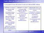 i vari piani di azione del contesto sociale nei confronti della violenza