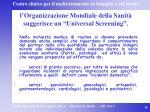 l organizzazione mondiale della sanit suggerisce un universal screening