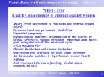 who 1996 health consequences of violence against women