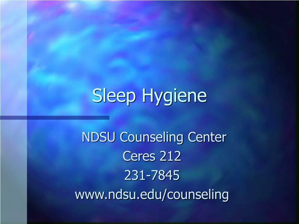 sleep hygiene l.