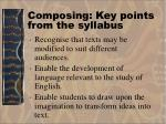 composing key points from the syllabus15