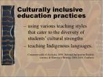 culturally inclusive education practices11