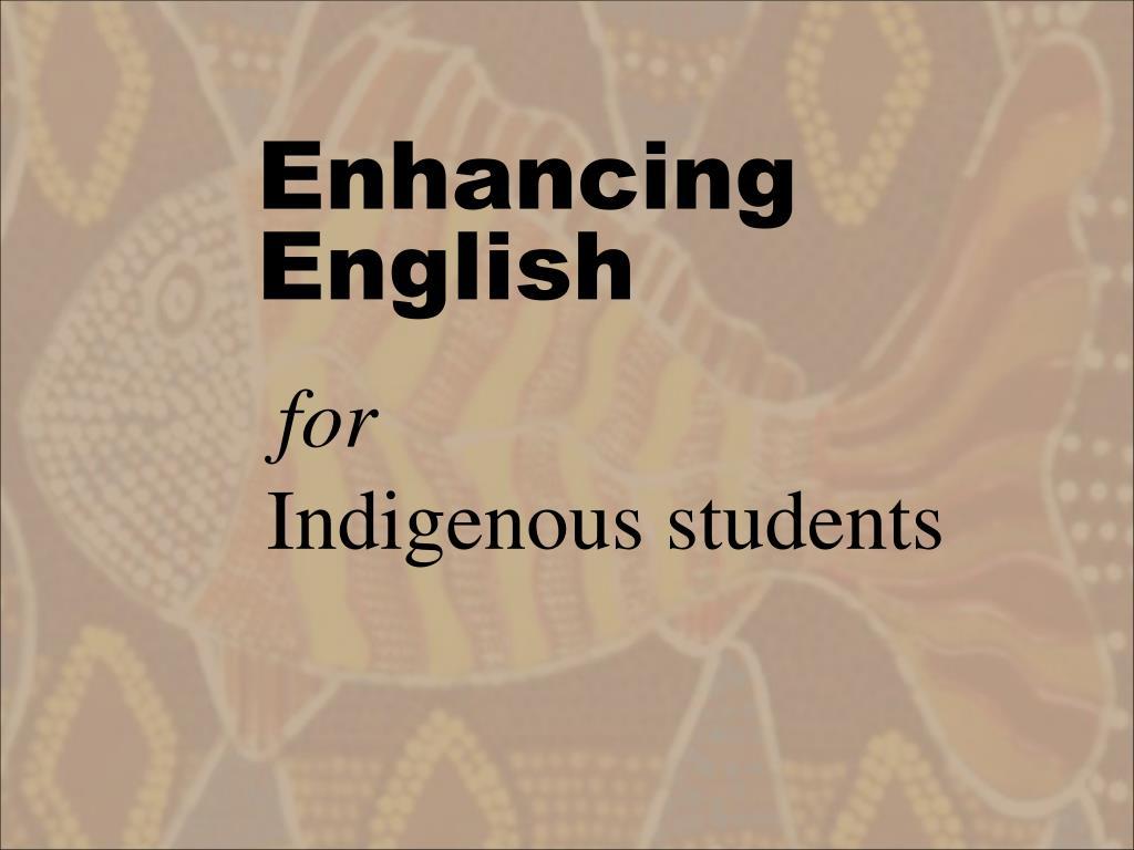 enhancing english l.