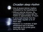 circadian sleep rhythm