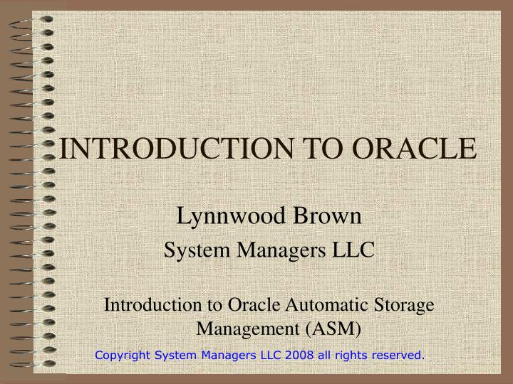 introduction to oracle n.
